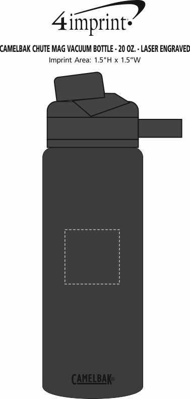 Imprint Area of CamelBak Chute Mag Vacuum Bottle - 20 oz. - Laser Engraved