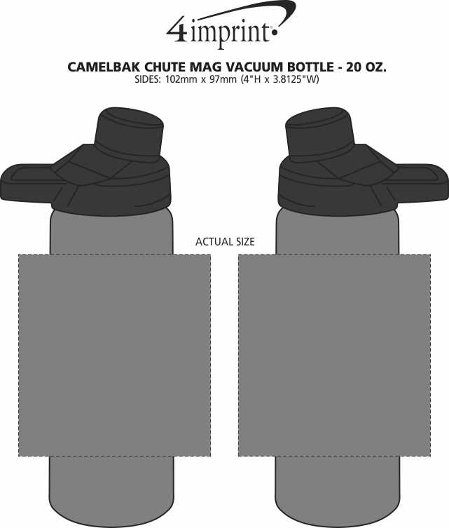 Imprint Area of CamelBak Chute Mag Vacuum Bottle - 20 oz.