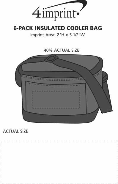 Imprint Area of 6-Pack Insulated Cooler Bag