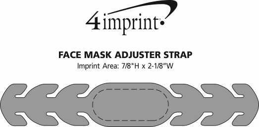 Imprint Area of Face Mask Adjuster Strap