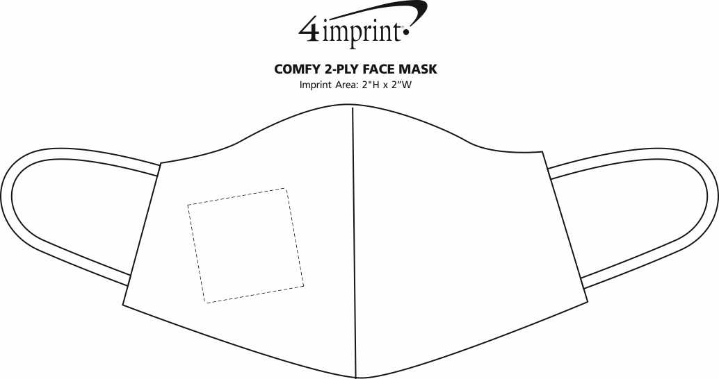 Imprint Area of Comfy 2-Ply Face Mask