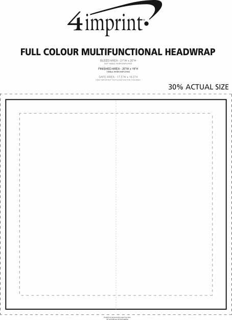 Imprint Area of Full Colour Multifunctional Headwrap