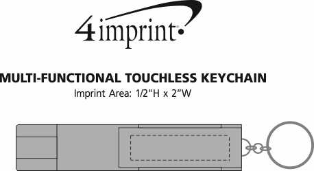 Imprint Area of Multi-Functional Touchless Keychain