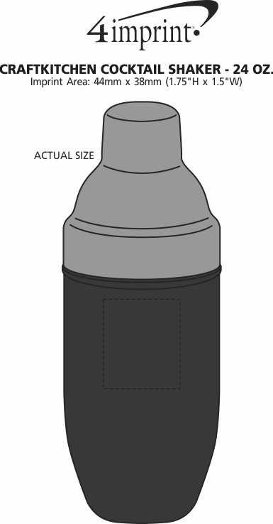 Imprint Area of CraftKitchen Cocktail Shaker - 24 oz.