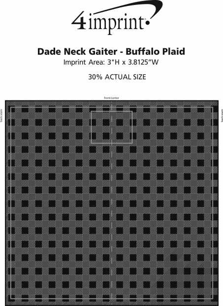 Imprint Area of Dade Neck Gaiter - Buffalo Plaid