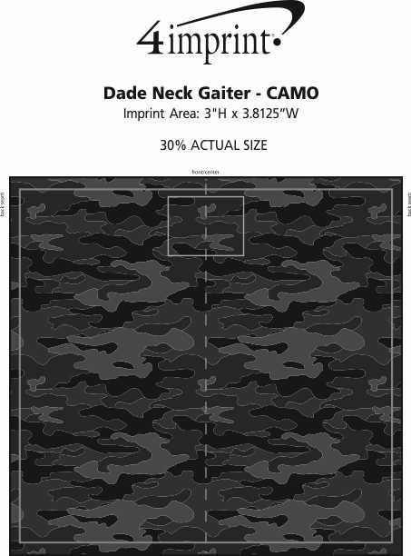 Imprint Area of Dade Neck Gaiter - Camo