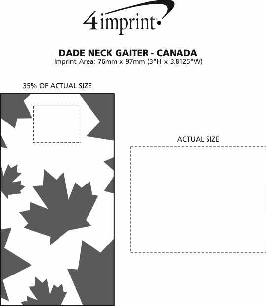Imprint Area of Dade Neck Gaiter - Canada