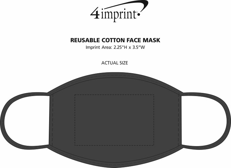 Imprint Area of Reusable Cotton Face Mask