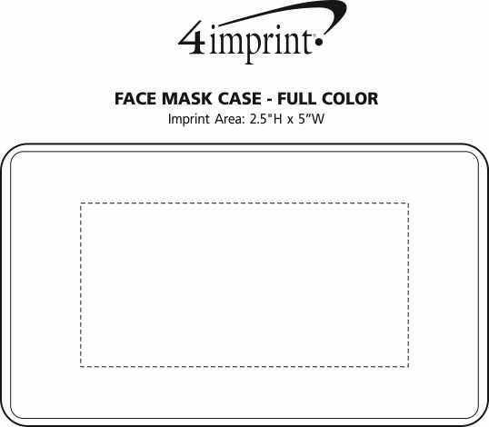 Imprint Area of Face Mask Case - Full Colour