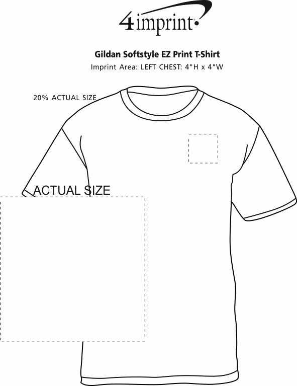 Imprint Area of Gildan Softstyle EZ Print T-Shirt