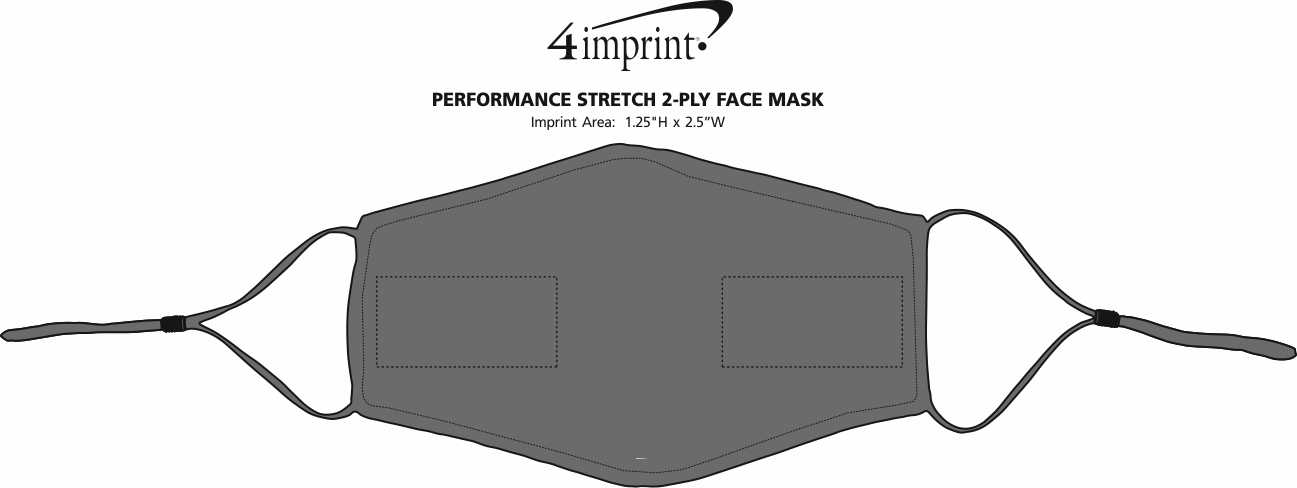 Imprint Area of Performance Stretch 2-Ply Face Mask