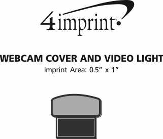 Imprint Area of Webcam Cover and Video Light