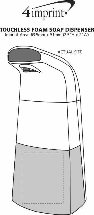 Imprint Area of Touchless Foam Dispenser