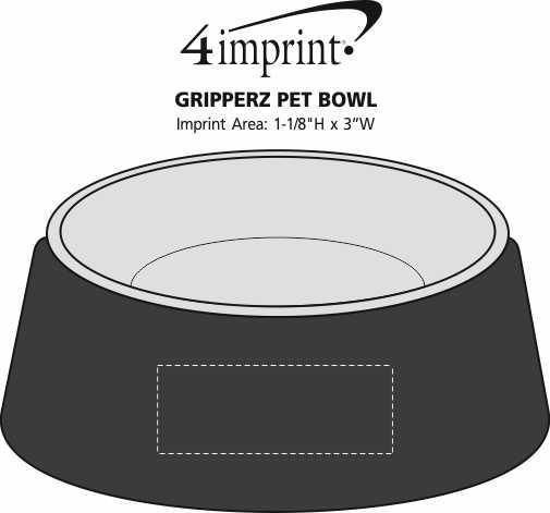 Imprint Area of Gripperz Pet Bowl