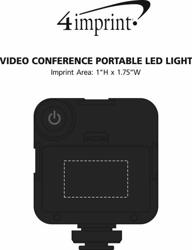 Imprint Area of Video Conference Portable LED Light