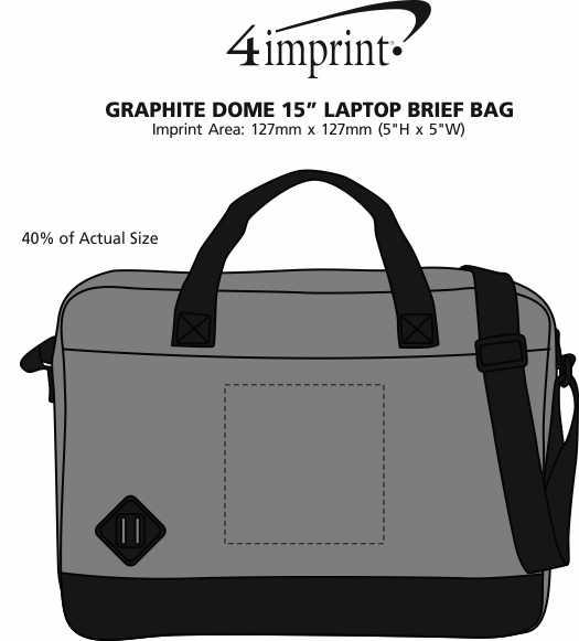 "Imprint Area of Graphite Dome 15"" Laptop Brief Bag"