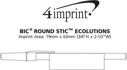 Imprint Area of Bic Round Stic Ecolutions Pen