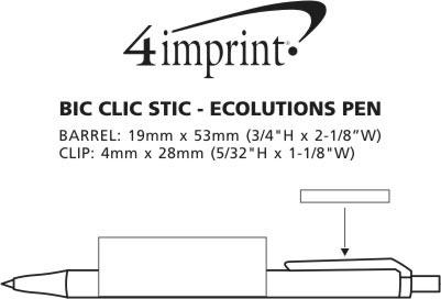 Imprint Area of Bic Clic Stic Ecolutions Pen