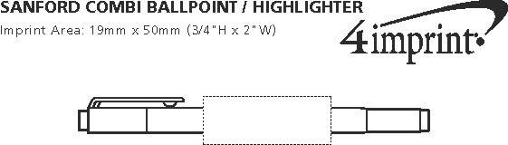 Imprint Area of uni-ball Combi Ballpoint/Highlighter