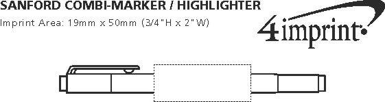Imprint Area of uni-ball Combi Marker/Highlighter