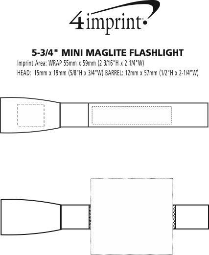 "Imprint Area of 5-3/4"" Mini MagLite Flashlight"