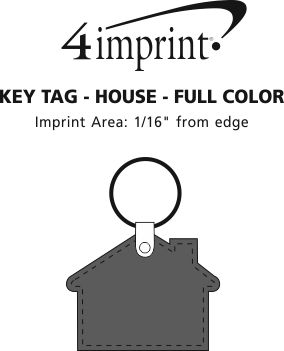 Imprint Area of House Soft Keychain - Full Colour