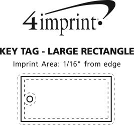 Imprint Area of Large Rectangle Soft Keychain - Full Colour