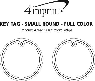 Imprint Area of Round Soft Keychain - Full Colour