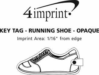 Imprint Area of Running Shoe Soft Keychain - Opaque
