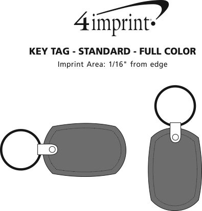 Imprint Area of Standard Shape Soft Keychain - Full Colour