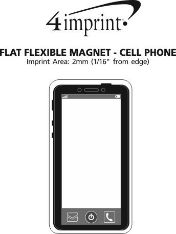 Imprint Area of Flat Flexible Magnet - Cell Phone