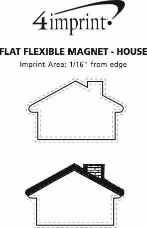 Imprint Area of Flat Flexible Magnet - House