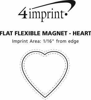 Imprint Area of Flat Flexible Magnet - Heart