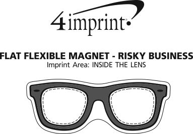 Imprint Area of Flat Flexible Magnet - Risky Business Sunglasses