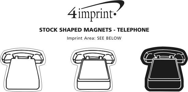 Imprint Area of Flat Flexible Magnet - Telephone