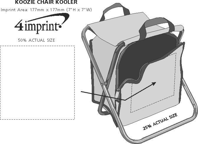 Imprint Area of Koozie® Chair Kooler