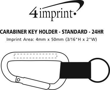 Imprint Area of Carabiner Key Holder - 24 hr
