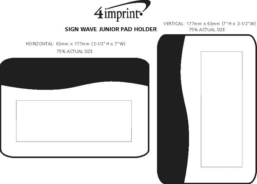 Imprint Area of SIgN Wave Junior Pad Holder