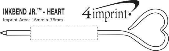 Imprint Area of Inkbend Standard - Heart