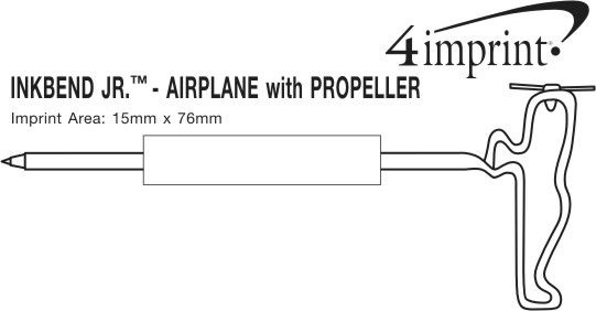 Imprint Area of Inkbend Standard - Airplane with Propeller