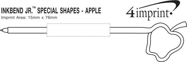 Imprint Area of Inkbend Standard Special Shapes - Apple