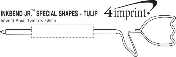 Imprint Area of Inkbend Standard Special Shapes - Tulip