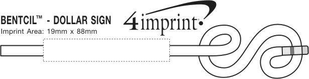 Imprint Area of Bentcil - Dollar Sign