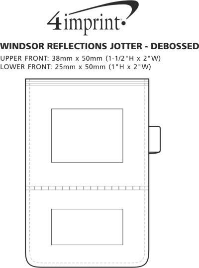 Imprint Area of Windsor Reflections Jotter - Debossed