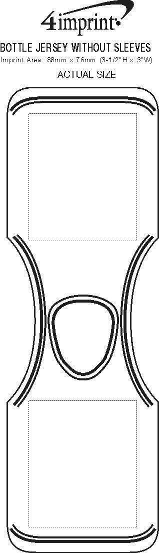 Imprint Area of Bottle Jersey without Sleeves