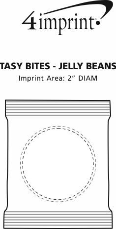 Imprint Area of Tasty Bites - Assorted Jelly Beans