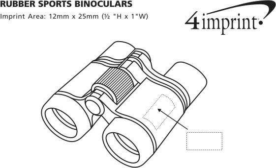 Imprint Area of Sports Rubber Binoculars