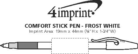 Imprint Area of Comfort Stick Pen - Frost White