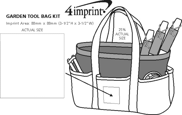 Imprint Area of Garden Tool Bag Kit