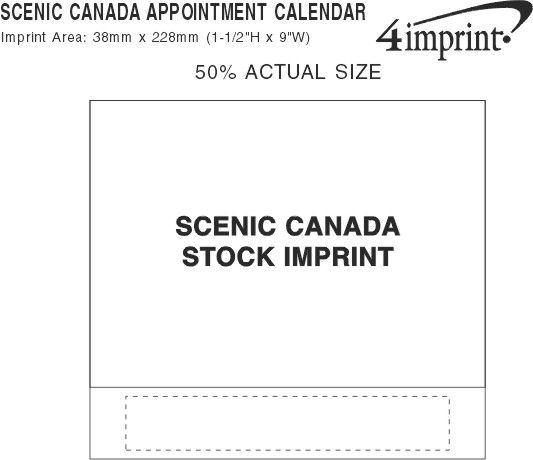 Imprint Area of Scenic Canada Appointment Calendar
